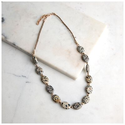Speckled Stone Strand Necklace