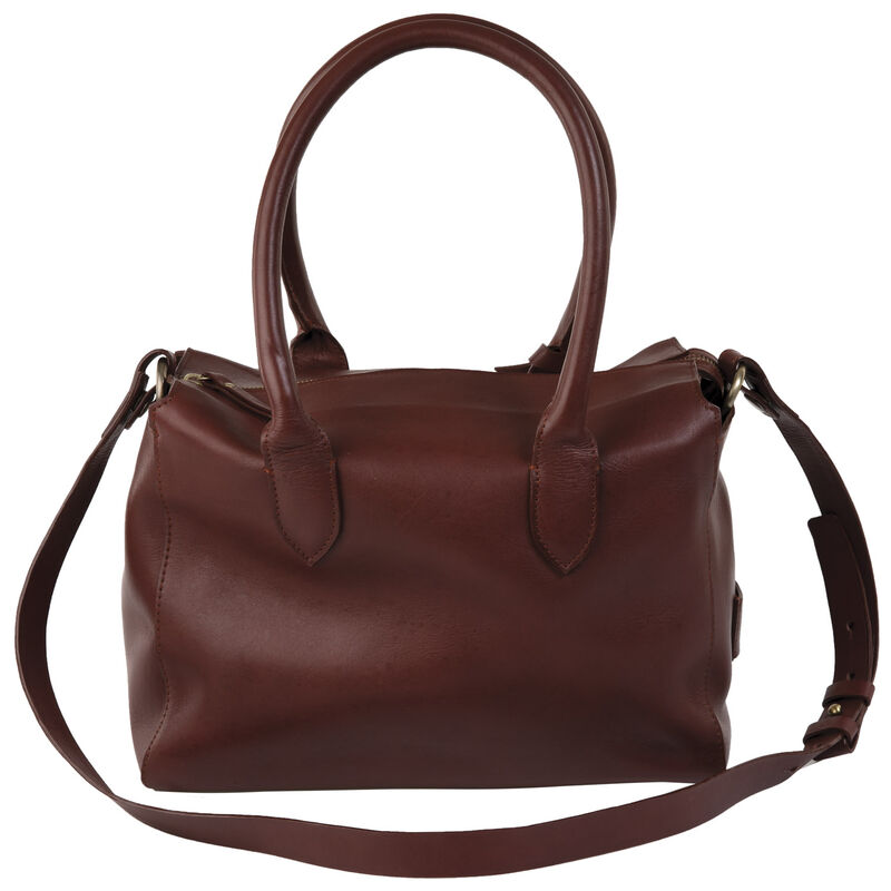 Carmen Leather Tote Bag -  oxblood