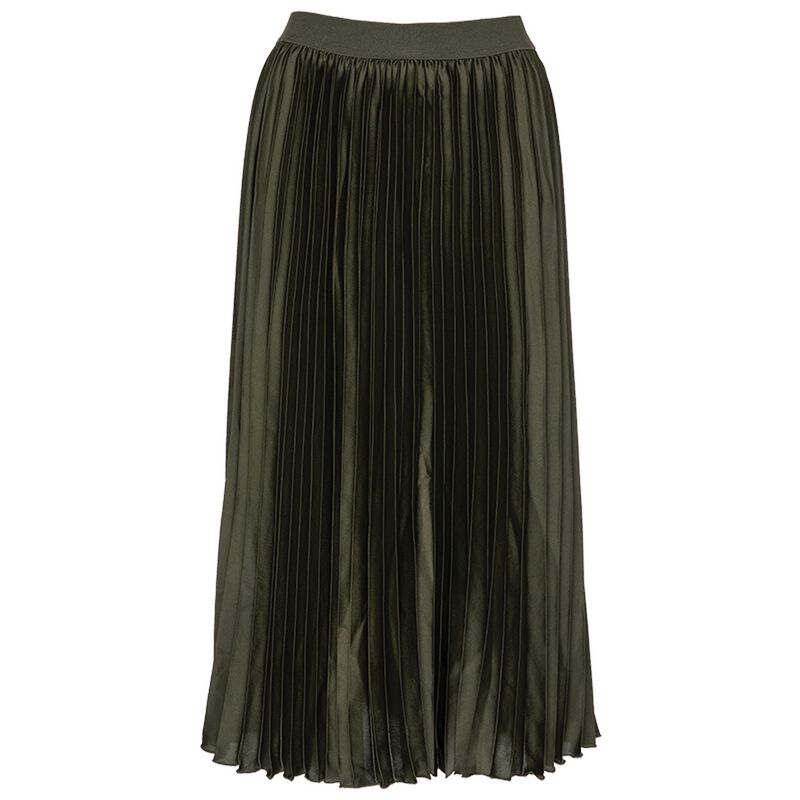 Elida Pleated Skirt -  olive