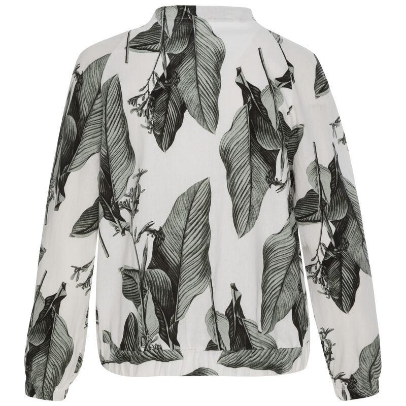 Ruby Palm Leaf Bomber -  white
