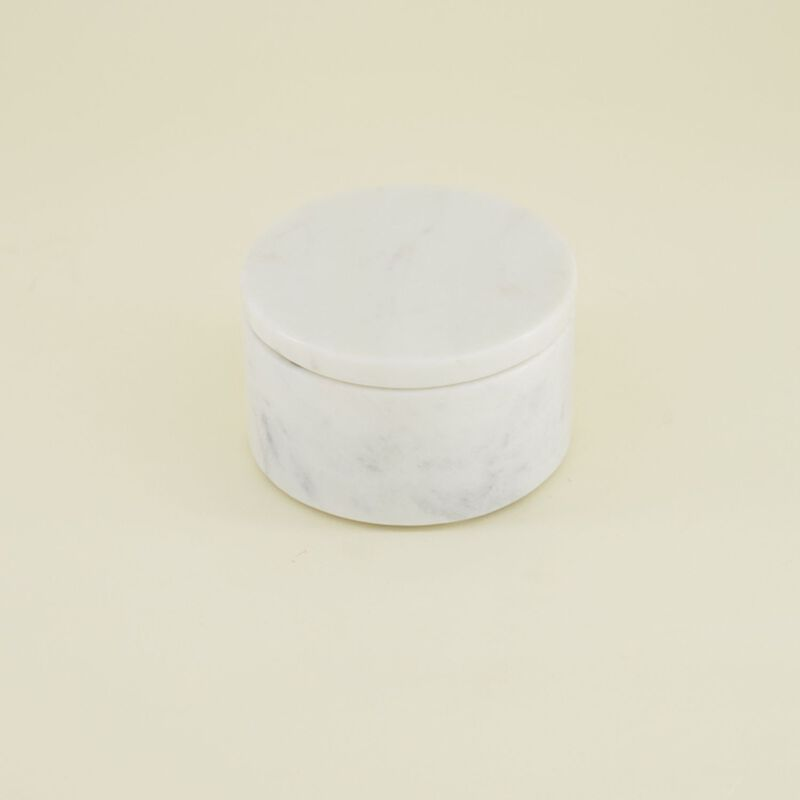 White Marble Salt & Pepper Bowl -  white