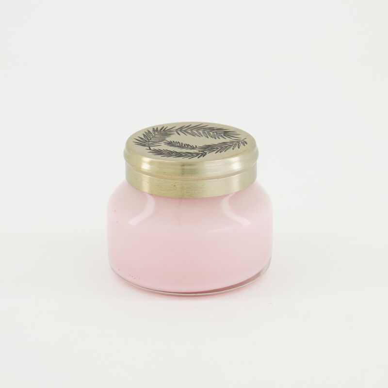 Candle in Pearlized Jar  -  palepink-gold