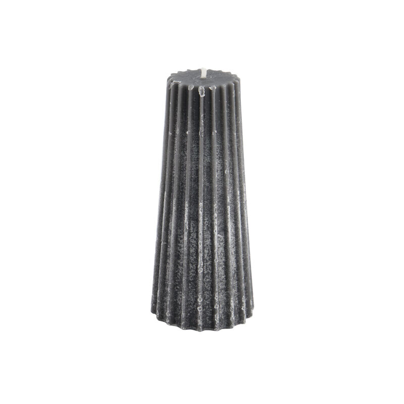 Small Charcoal Gear Candle -  charcoal