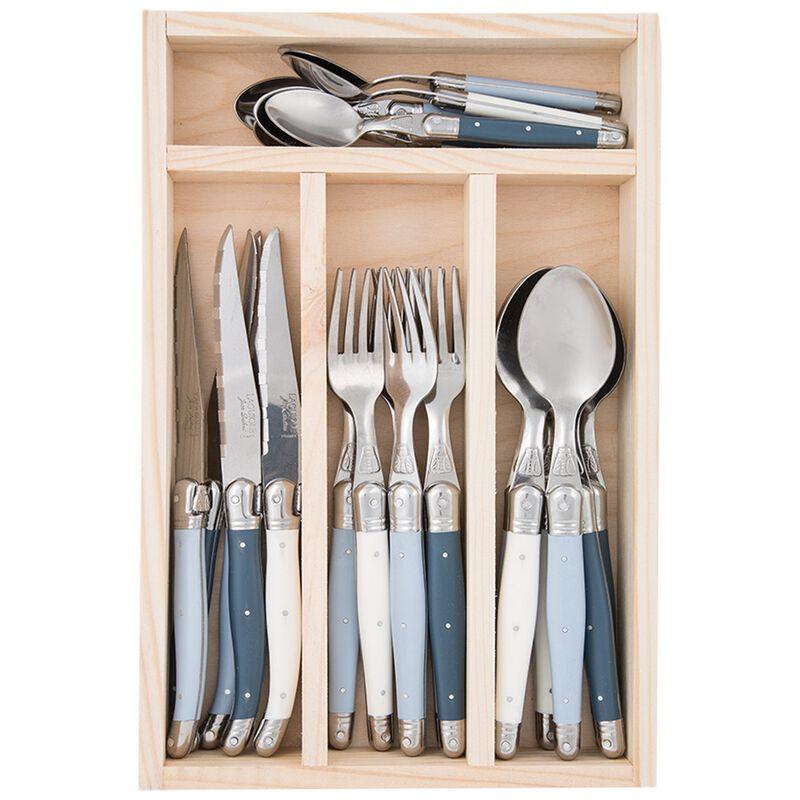 Laguiole Rustic Blue Cutlery Set  -  blue-blue