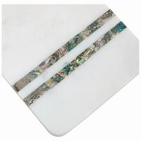Mother of Pearl Strip Marble Paddle Board -  white-silver