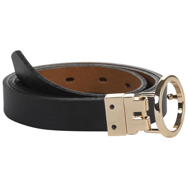 Natalie Reversible Belt -  black-tan
