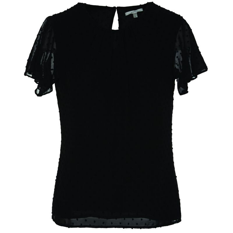 Blaine Pop Over Blouse -  black