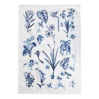 Botanical Blues Tea Towel -  blue-white