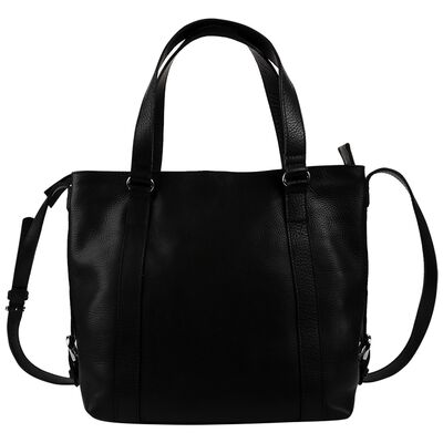 Luz Leather Stitched Band Shopper Bag