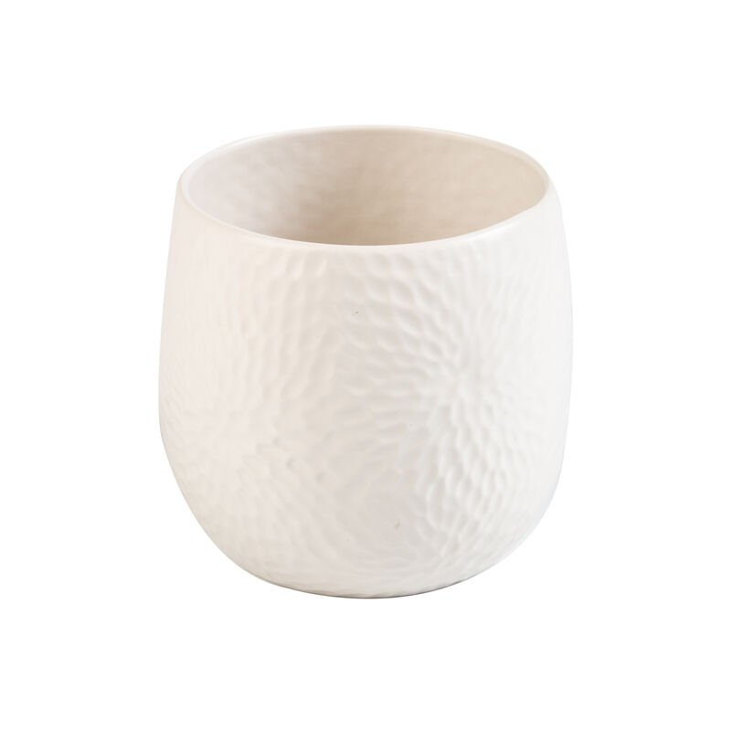 Pret-a-Pot Medium Honeycomb Planter -  milk