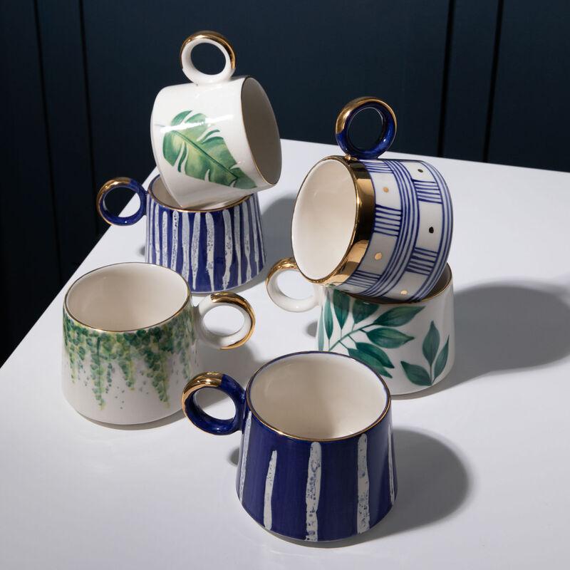 Kapula Stripe Blue & Gold Mug -  blue-gold