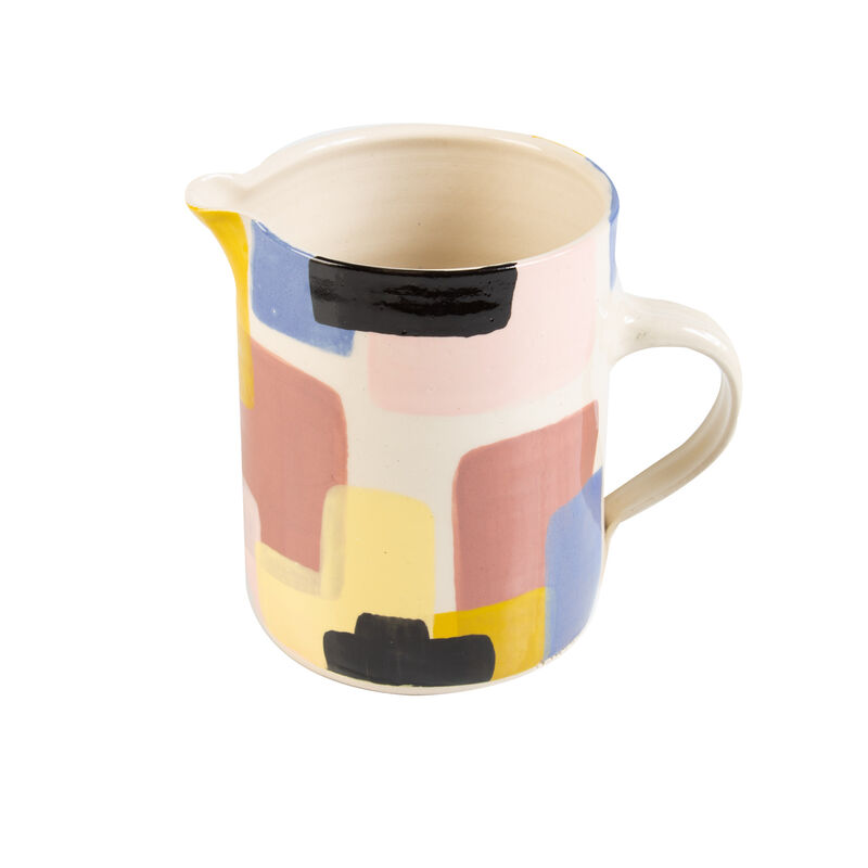 Wonki Ware Sunbaked Abstract Jug -  assorted