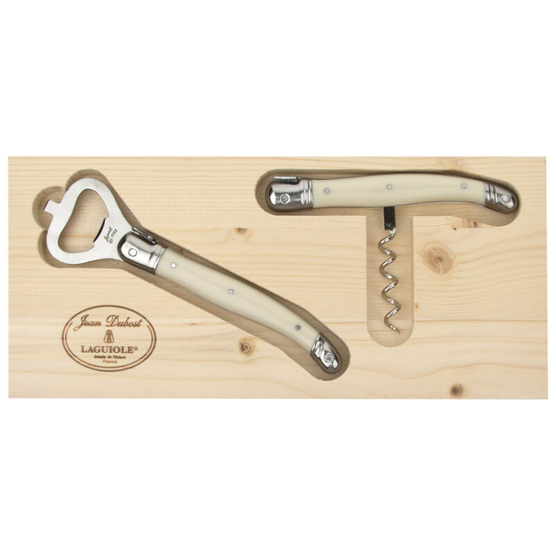 Laguiole Natural Opener Set -  bone