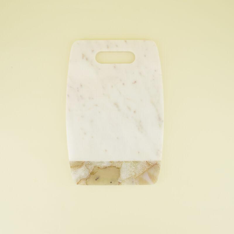 Marble & Agate Board -  white-cream