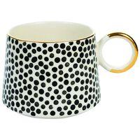 Kapula Black & White Dotted Mug -  black-white