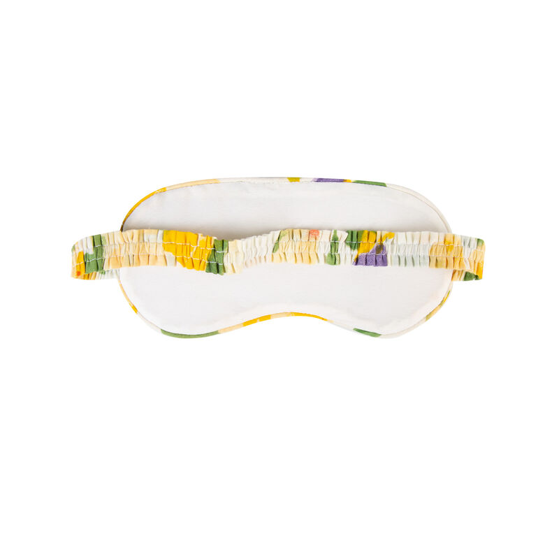 Rosebud Floral Eye Mask -  blue-yellow