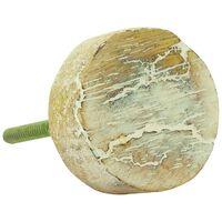 Round Woodgrain Knob -  brown