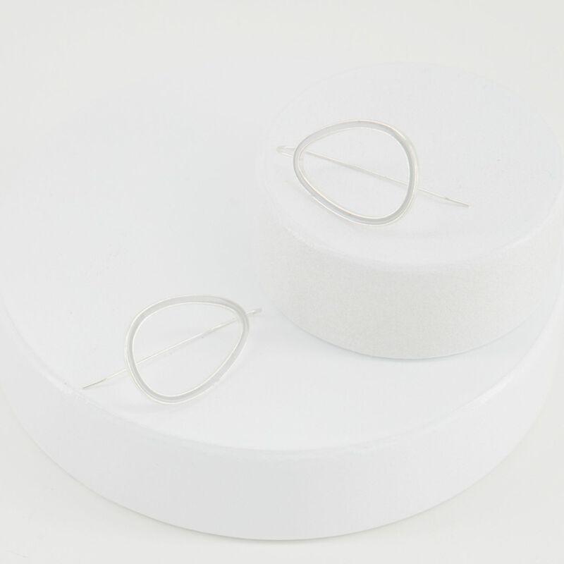 Geo Drop Epoxy Finish Earrings -  dc0212