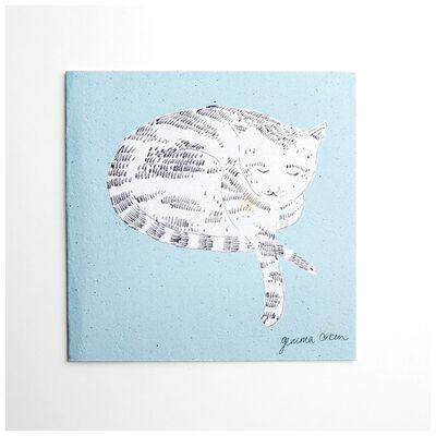 Gemma Orkin Light Blue Cat Card