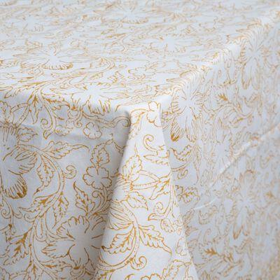 Rust Blockprinted Tablecloth