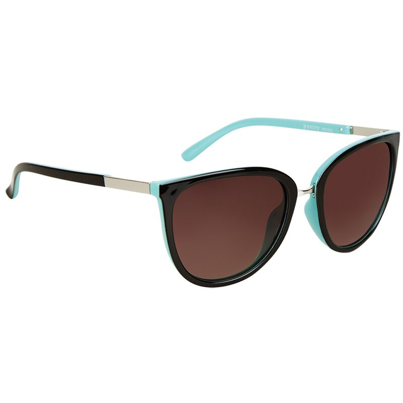 Poetry Polarised Catseye Sunglasses -  brown-lightblue