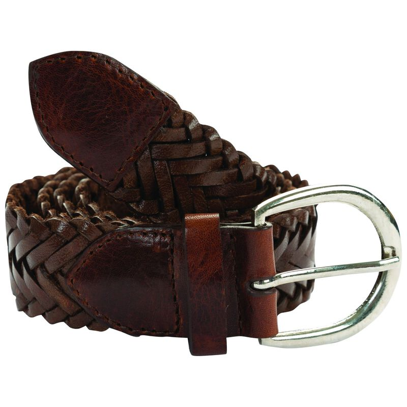 Alana Plaitted Leather Belt -  tan