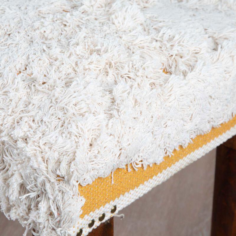 Textured Ochre & Milk Bench -  ochre-milk