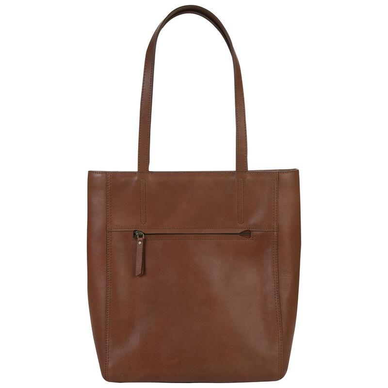 Alisyn Leather Tote Bag -  tan