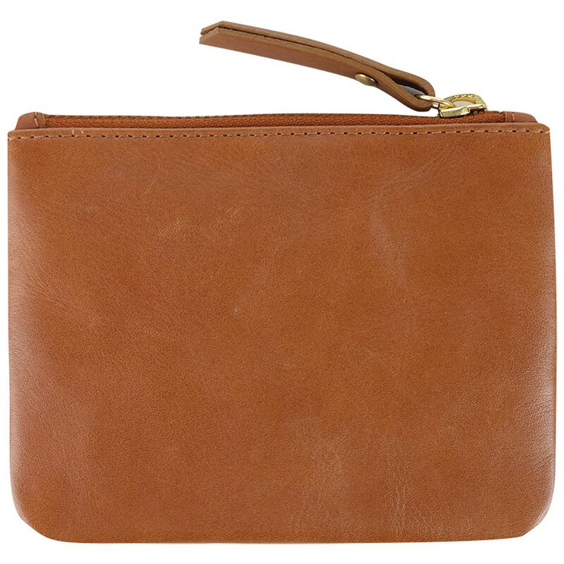 Moira Leather Small Pouch -  tan-gold
