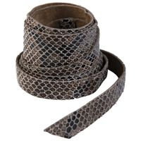 Tammy Snakeskin Waist Tie Belt -  taupe-black