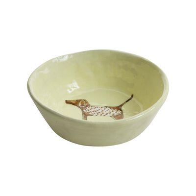 Gemma Orkin Pale Yellow Pointer Dog Snack Bowl