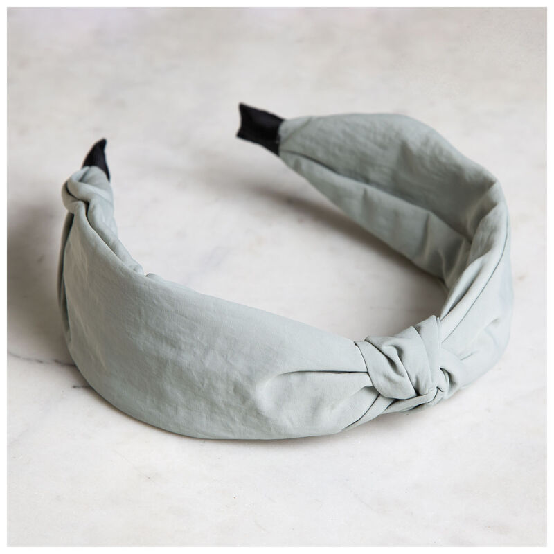 Plain Knot Alice Band -  blue
