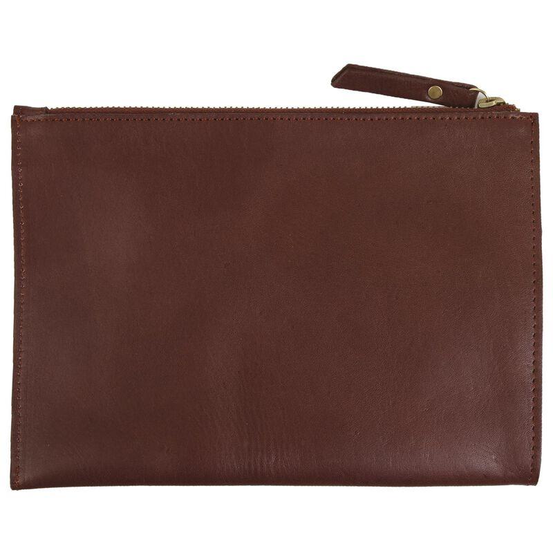 Tegan Leather Pouch -  burgundy