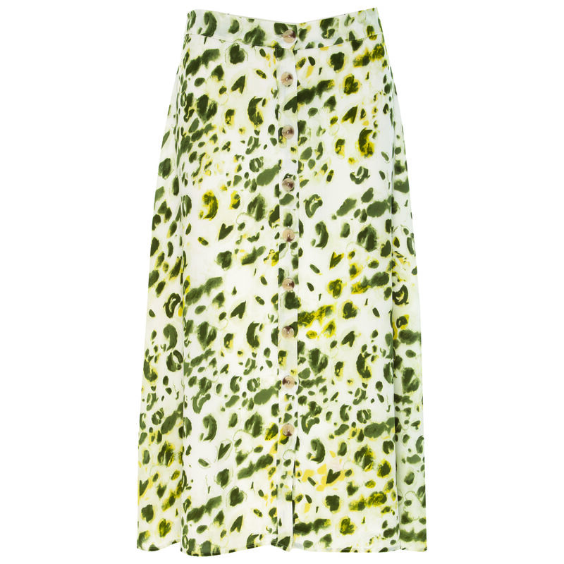 Ary Animal Skirt -  green