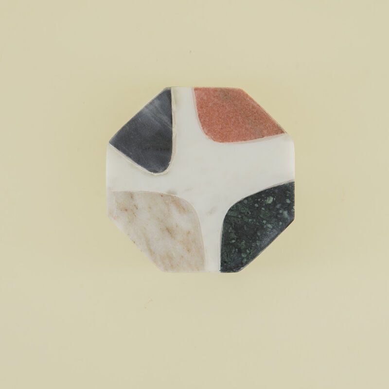 Abstract Marble Coaster Set -  assorted