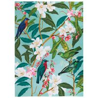 Vintage Floral and Bird Tea Towel -  assorted