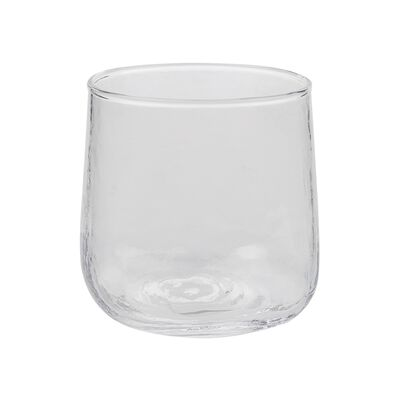 Hammered Short Clear Tumbler
