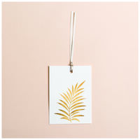 Gold Leaf Tag -  white-gold