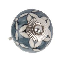 Starflower Doorknob -  grey-white