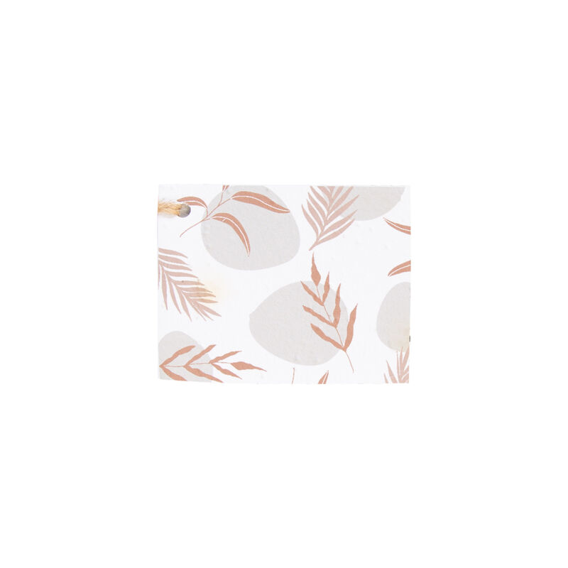 Growing Paper Abstract Leaves Tag -  pink-rust