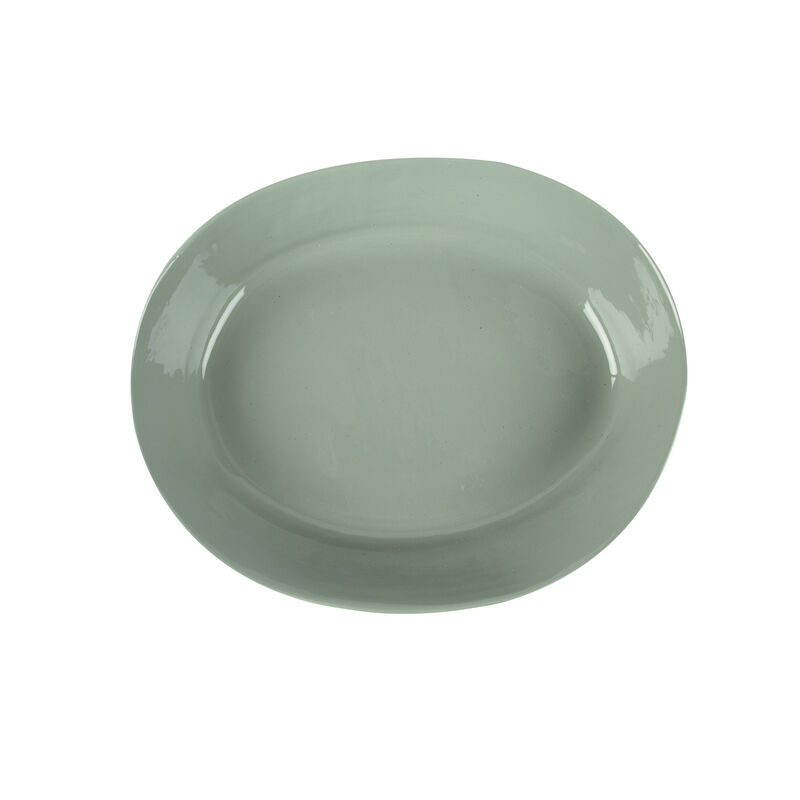 Pret-a-Pot Caledon Oval Glazed Bowl -  sage