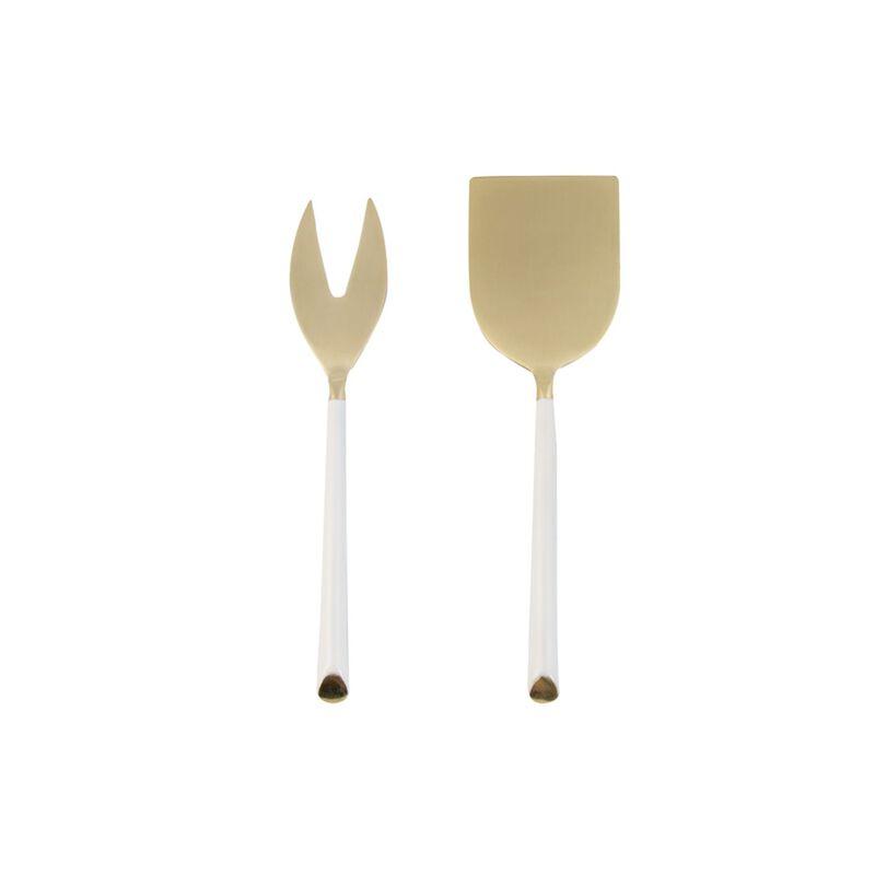 Minimal Ecru Cheese Set -  white-gold