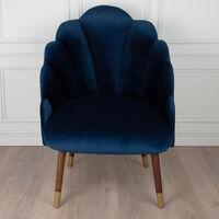 Navy Velvet Peacock Chair -  navy