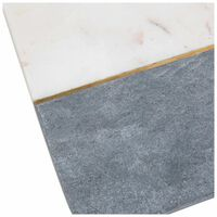 White and Grey Rectangle Marble Board with Brass -  white-grey