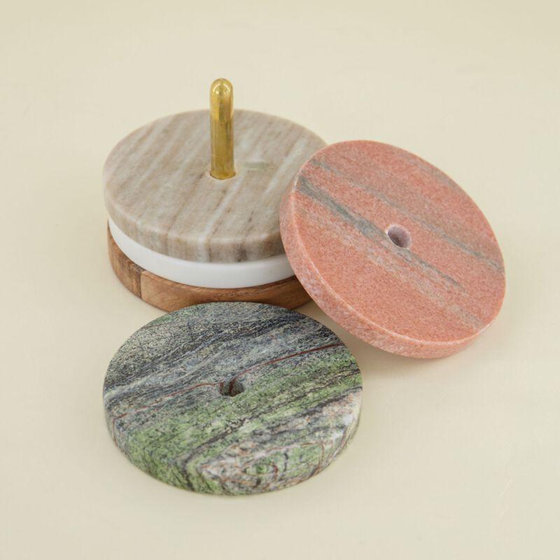 Multicolour Marble Coaster Set -  assorted