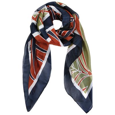 Sariyah Fern Colour blocked Silk Scarf