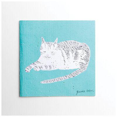 Gemma Orkin Turquoise Cat Card