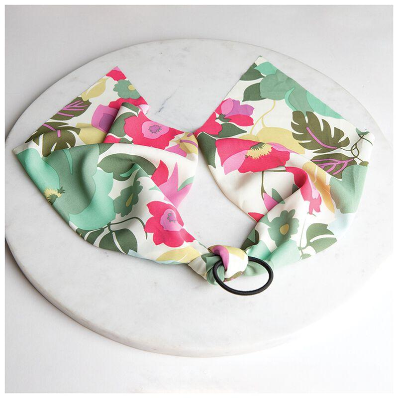 Floral Hair Tie -  milk-pink