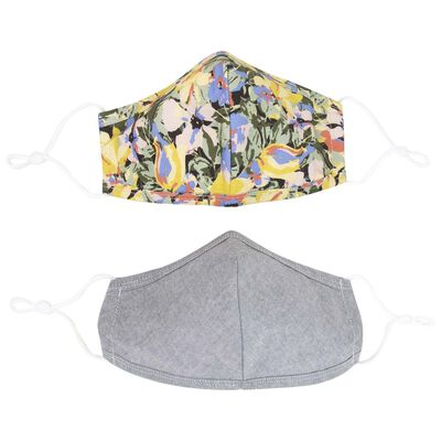 2-Pack Clustered Floral Fabric Face Masks