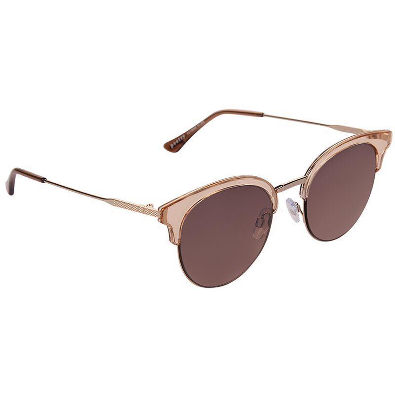 Cat Eye Clubmaster Sunglasses -  gold-gold